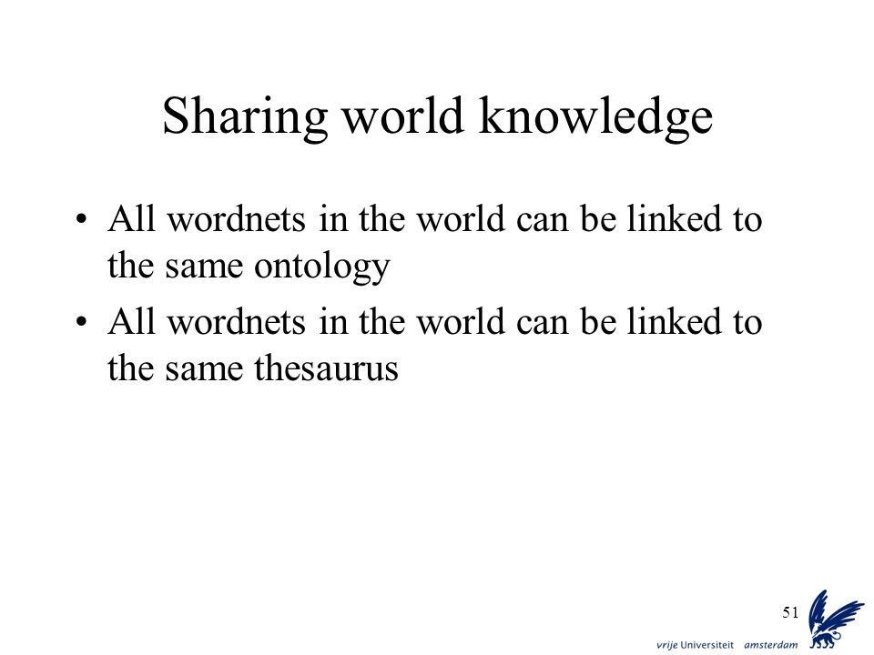 Sharing world knowledge
