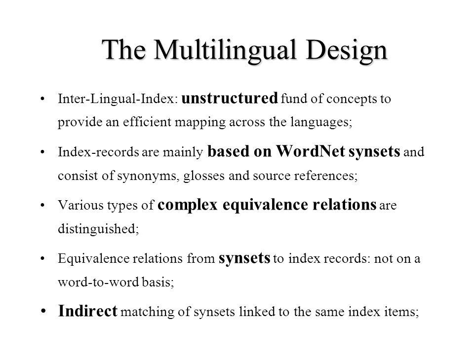 The Multilingual Design