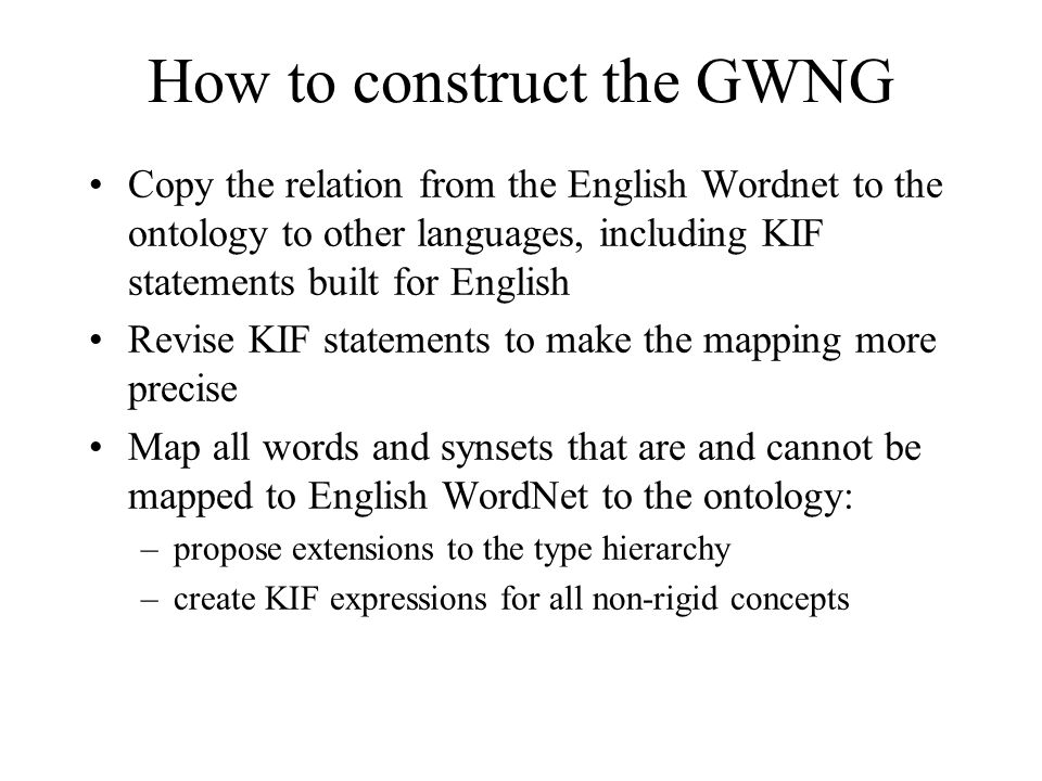 How to construct the GWNG