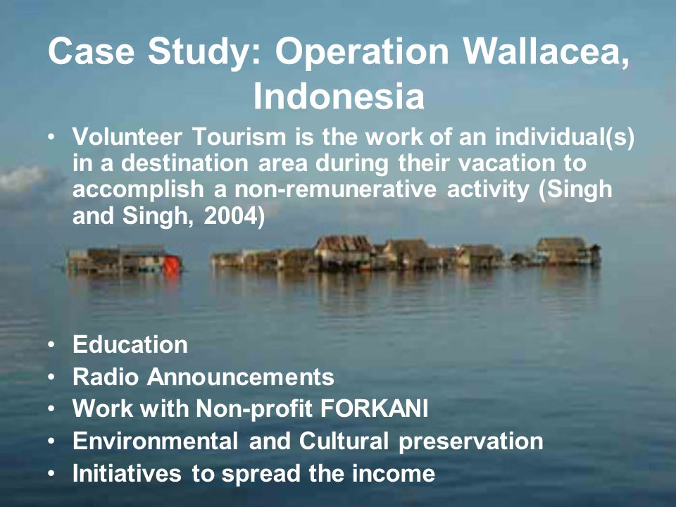 Case Study: Operation Wallacea, Indonesia