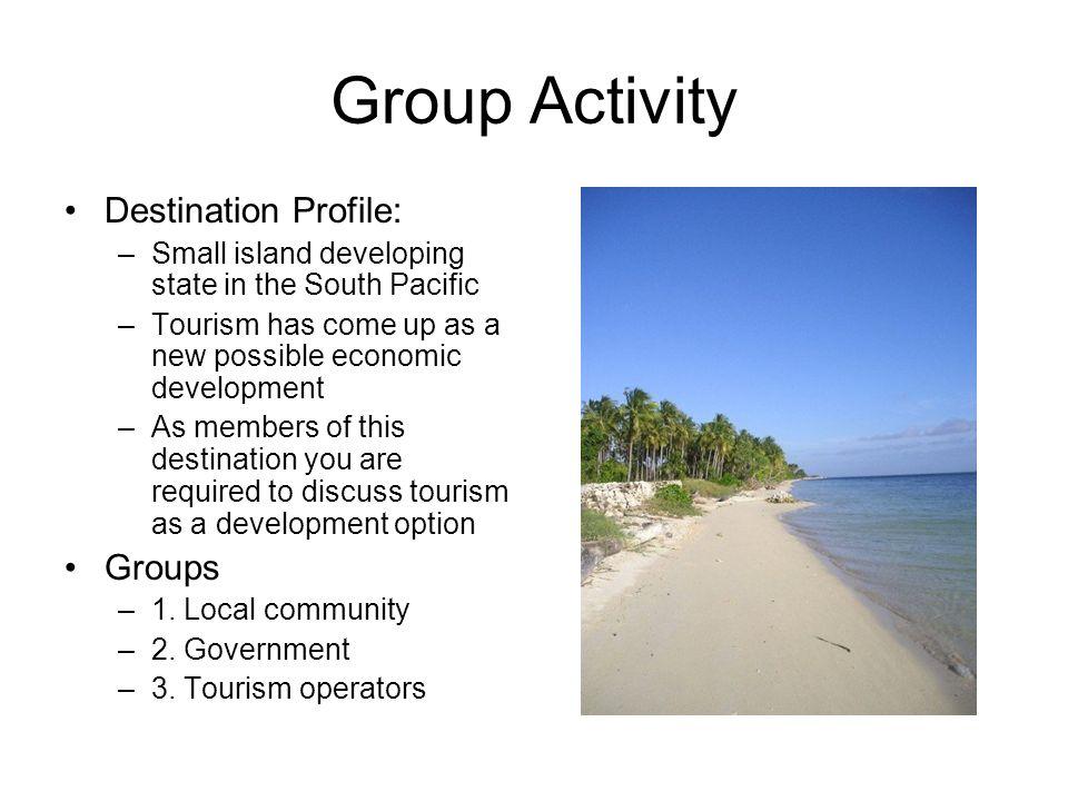 Group Activity Destination Profile: Groups