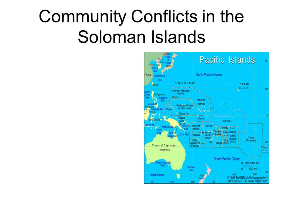 Community Conflicts in the Soloman Islands