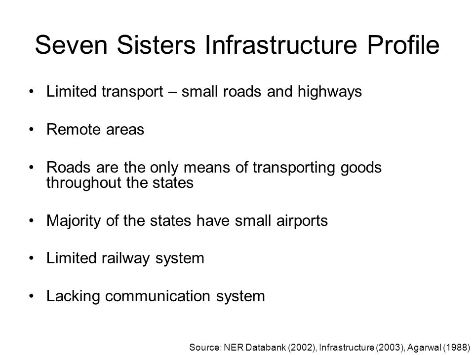 Seven Sisters Infrastructure Profile