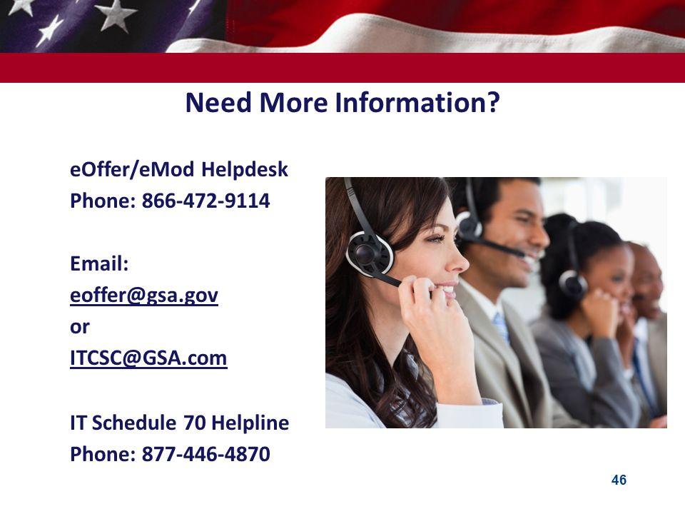 Need More Information Eoffer Emod Helpdesk Phone 866 472 9114 Email