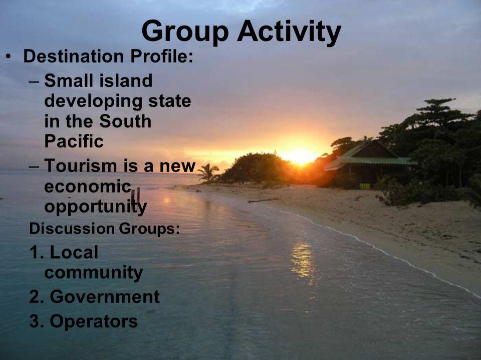 Group Activity Destination Profile: