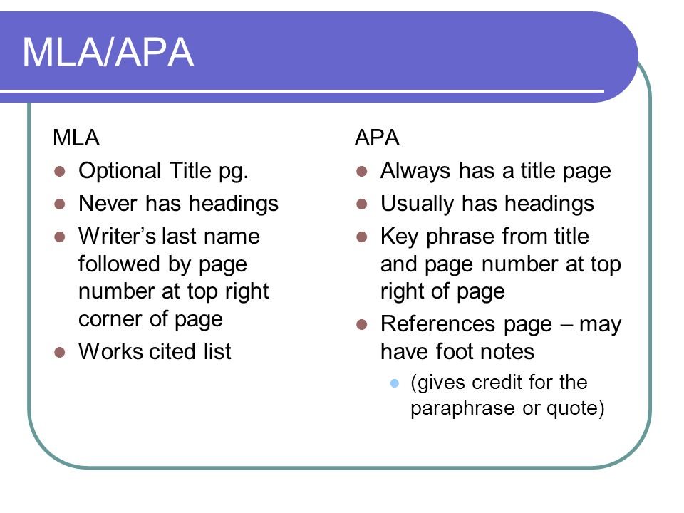 how to do a works cited page apa