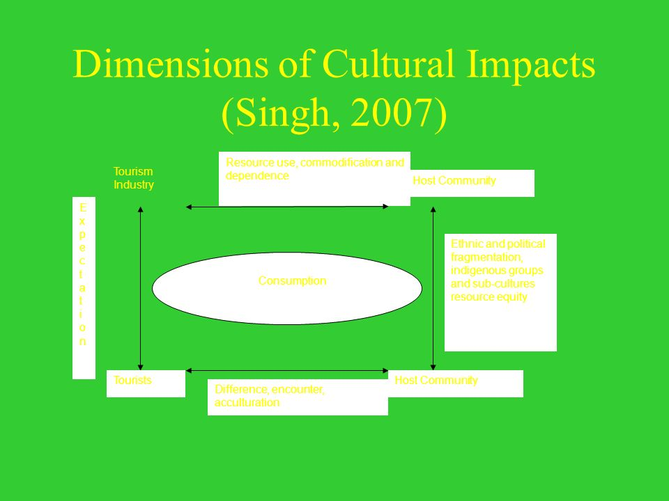 Dimensions of Cultural Impacts (Singh, 2007)