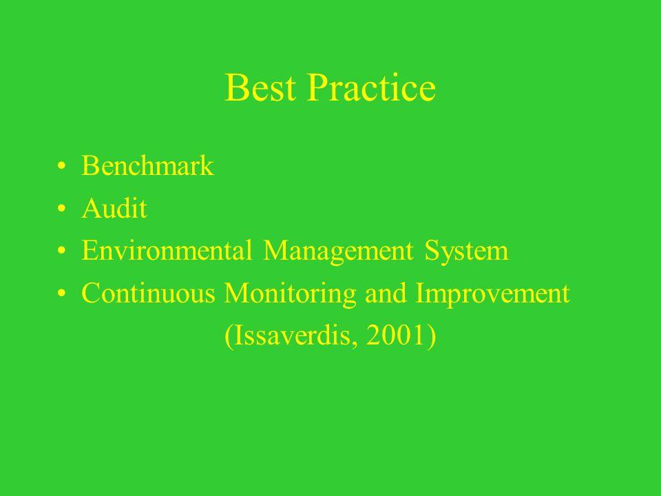 Best Practice Benchmark Audit Environmental Management System