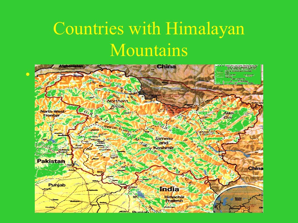 Countries with Himalayan Mountains