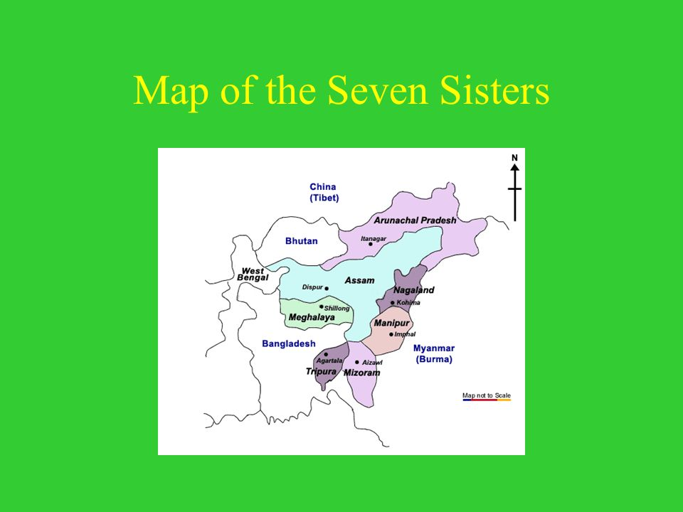 Map of the Seven Sisters