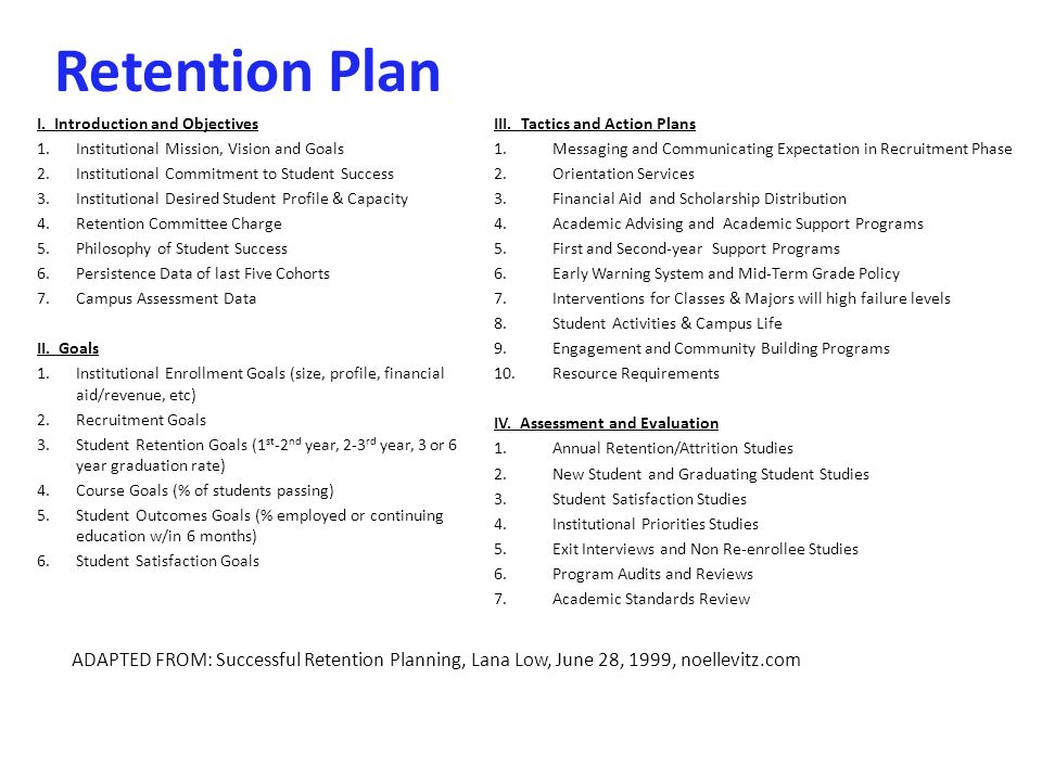 student retention plan template examples of objectives in a resume resume examples