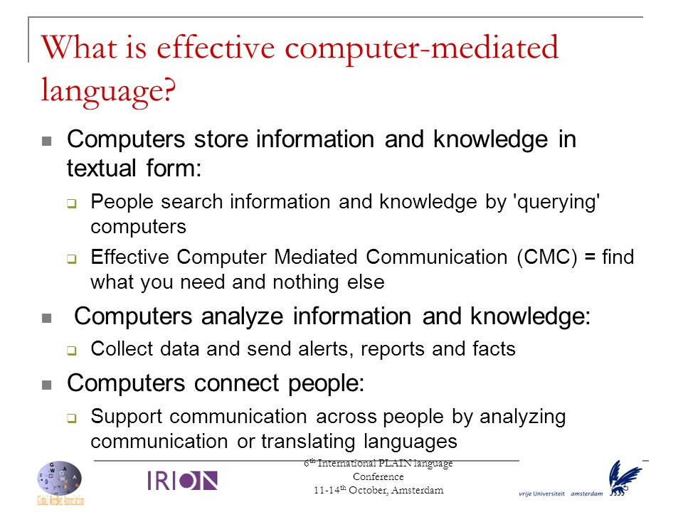 What is effective computer-mediated language
