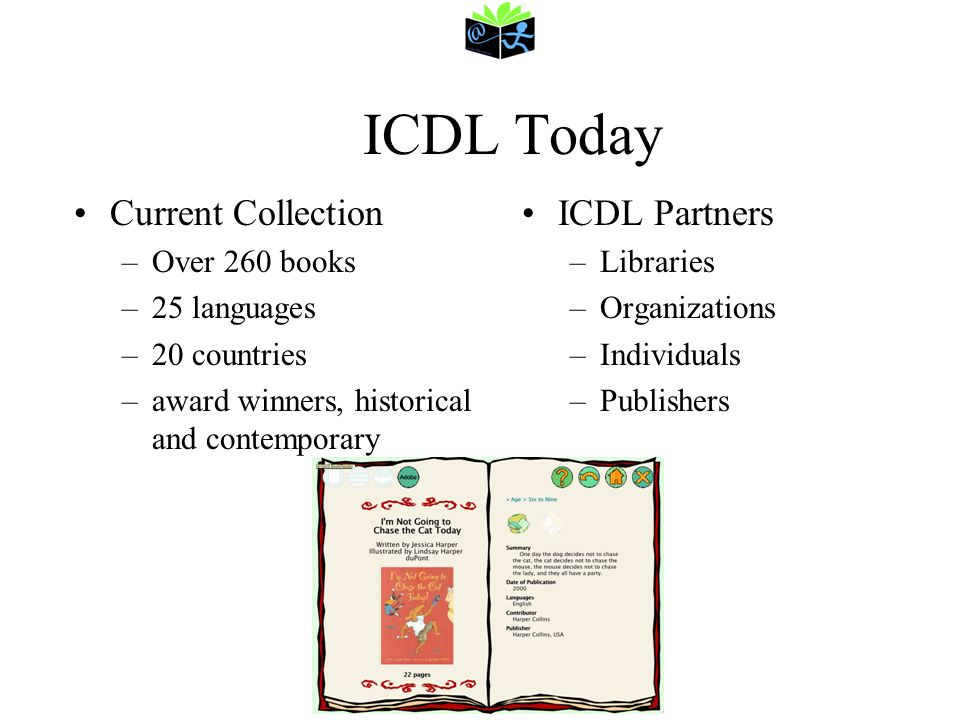 ICDL Today Current Collection ICDL Partners Over 260 books