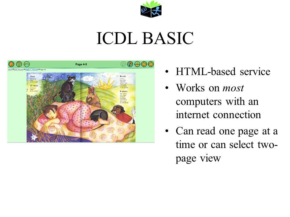 ICDL BASIC HTML-based service
