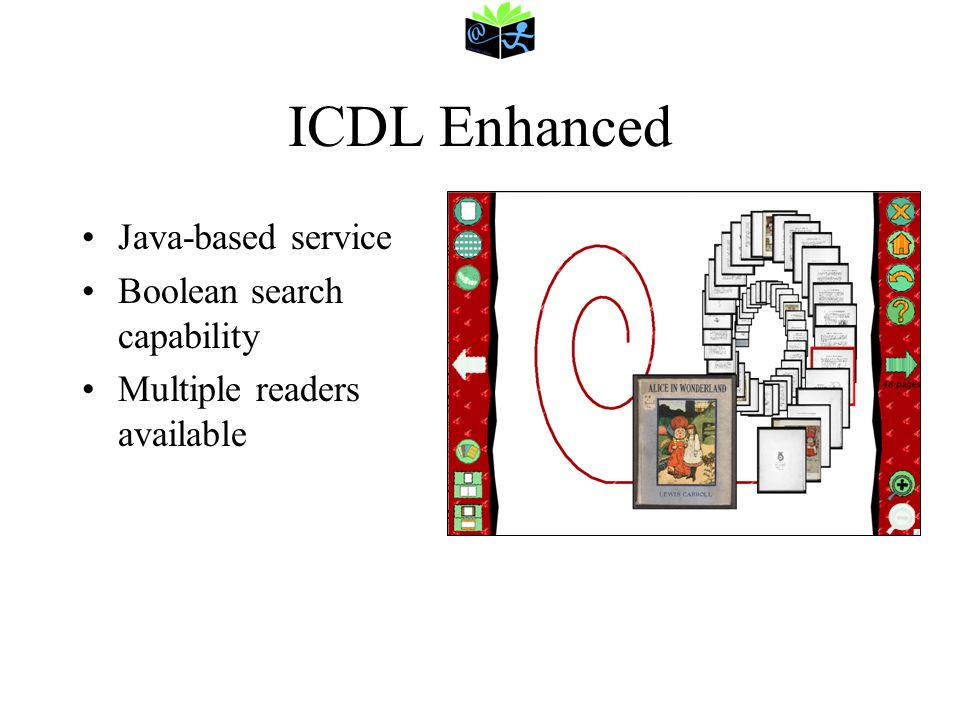 ICDL Enhanced Java-based service Boolean search capability