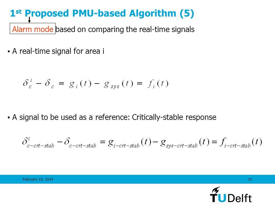 1st Proposed PMU-based Algorithm (5)