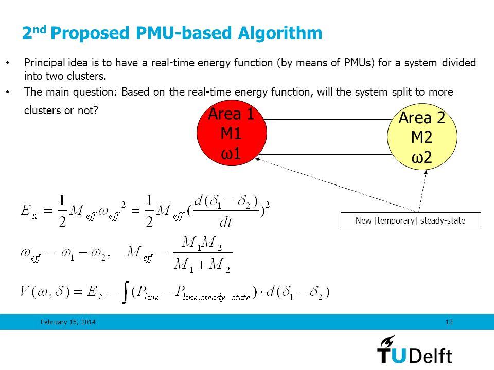 2nd Proposed PMU-based Algorithm