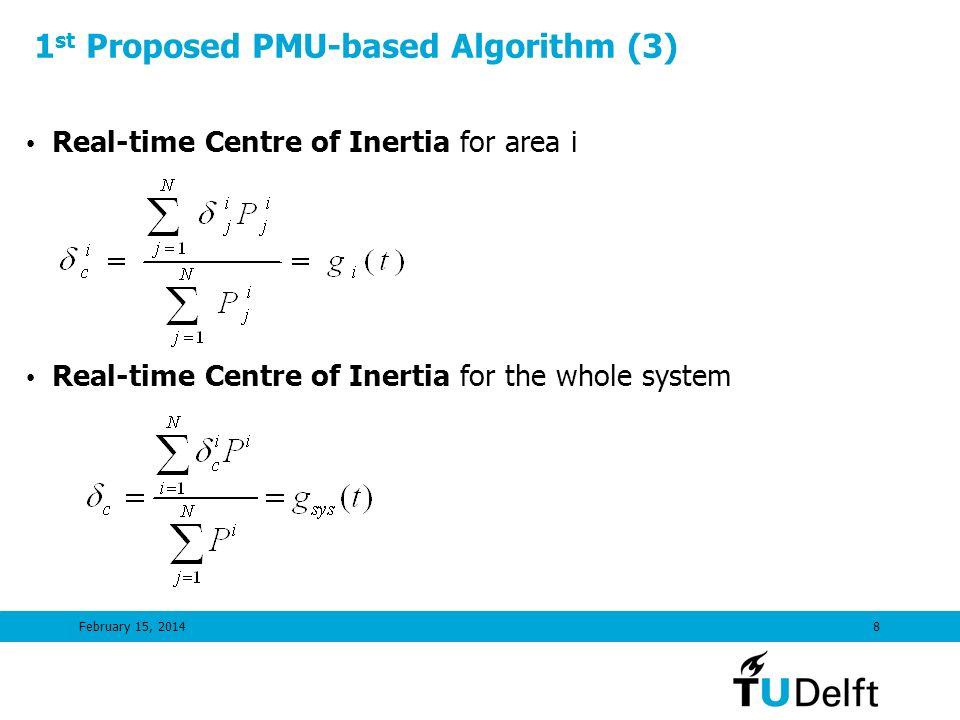 1st Proposed PMU-based Algorithm (3)