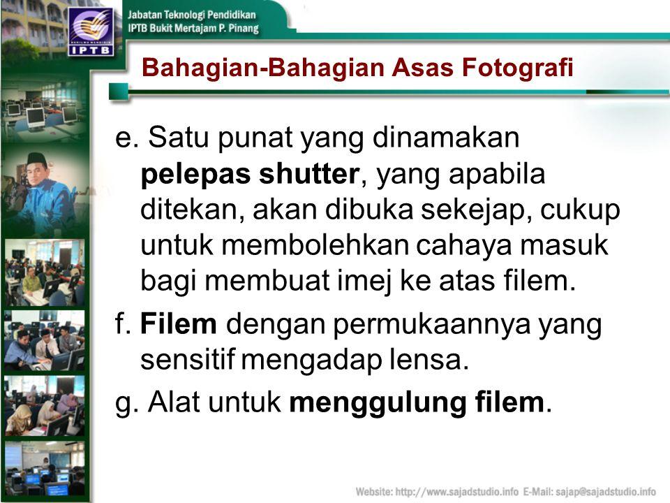 Bahagian-Bahagian Asas Fotografi