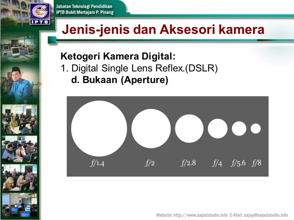 Jenis-jenis dan Aksesori kamera