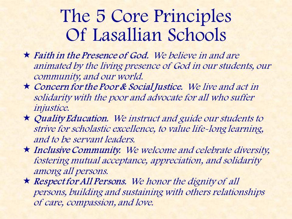The 5 Core Principles Of Lasallian Schools
