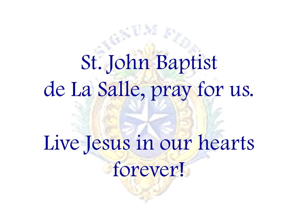 Live Jesus in our hearts forever!