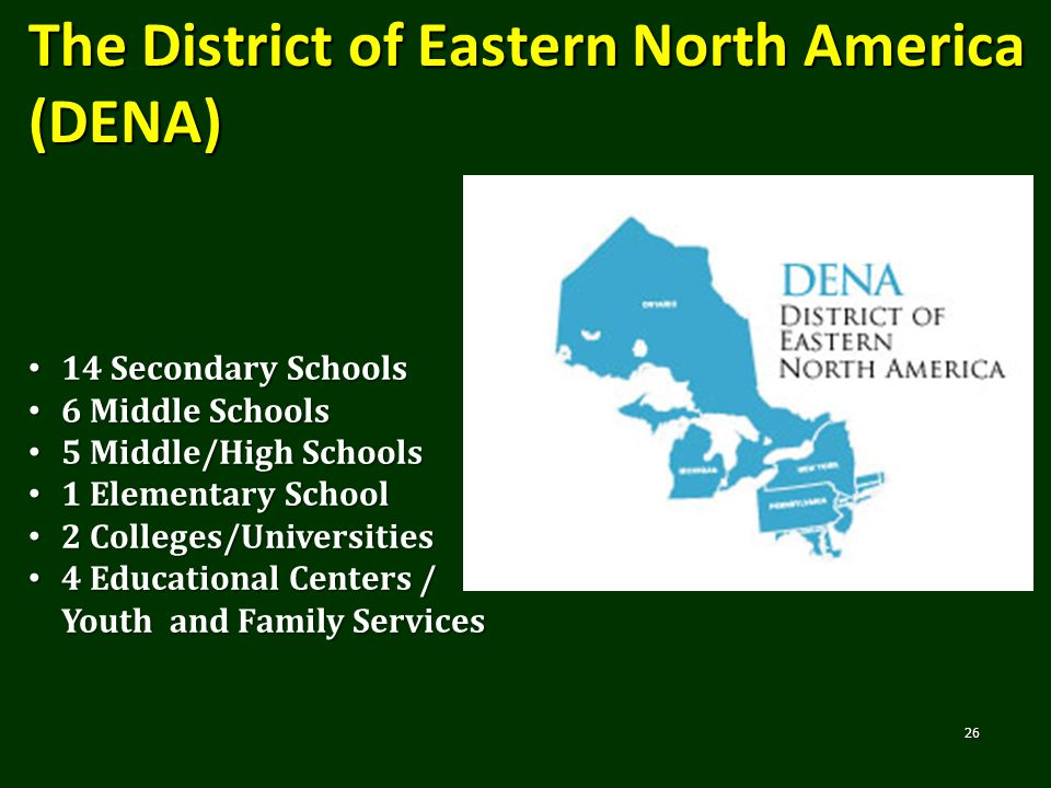 The District of Eastern North America (DENA)