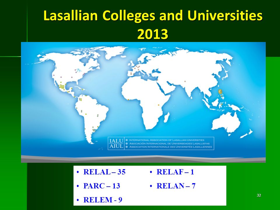 Lasallian Colleges and Universities 2013