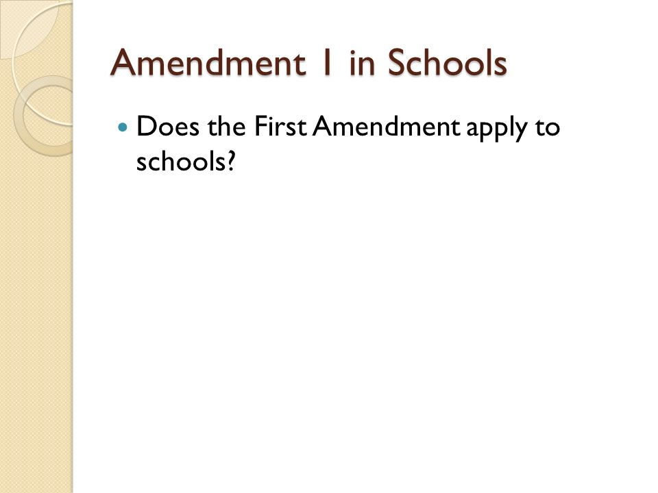 first amendment rights in public schools First amendment violated by collier county school board chair kathleen curatolo at  county public schools  first amendment rights are.
