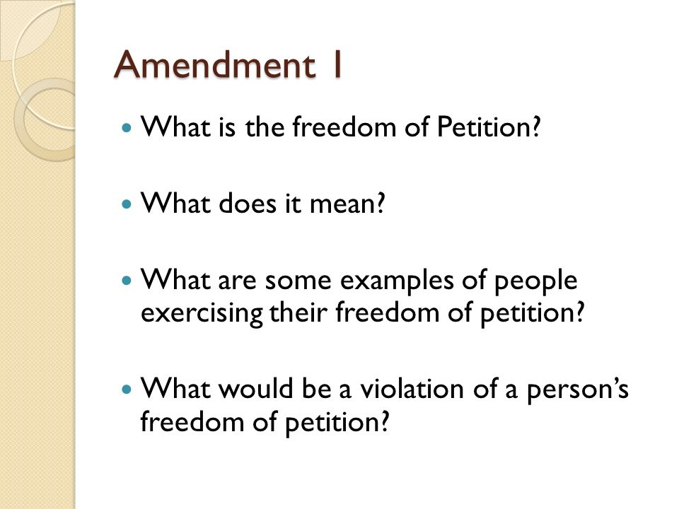 Amendment 1 The Bill of Rights. - ppt video online download