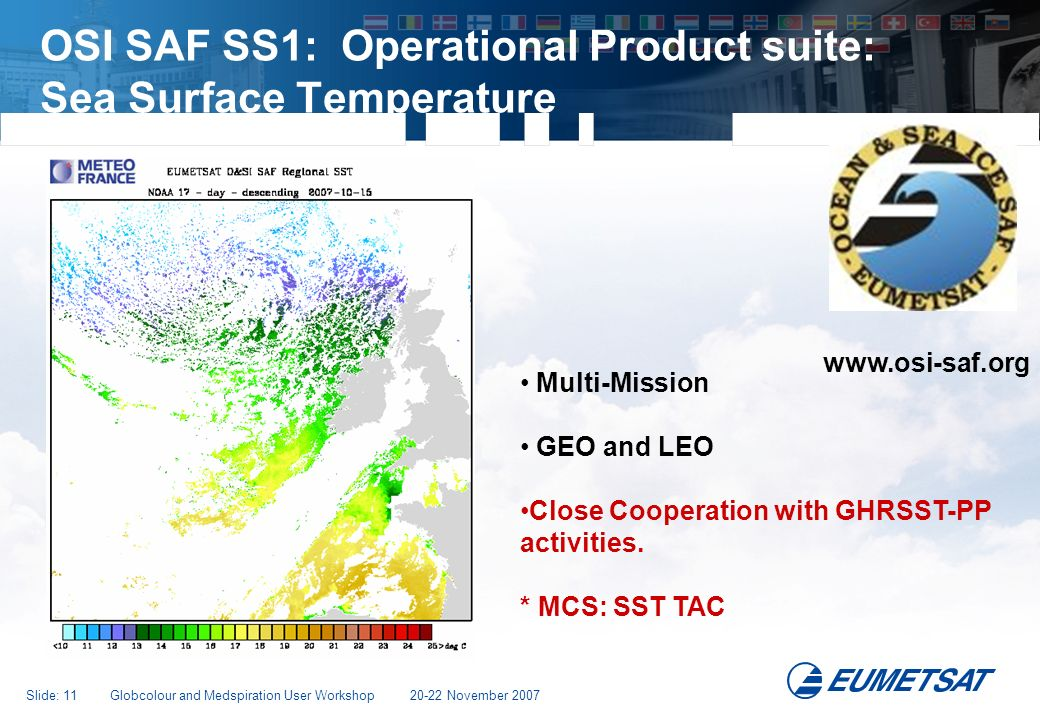 OSI SAF SS1: Operational Product suite: Sea Surface Temperature