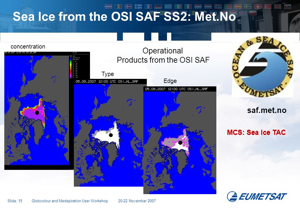 Sea Ice from the OSI SAF SS2: Met.No