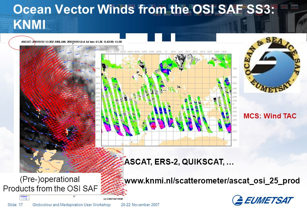 Ocean Vector Winds from the OSI SAF SS3: KNMI