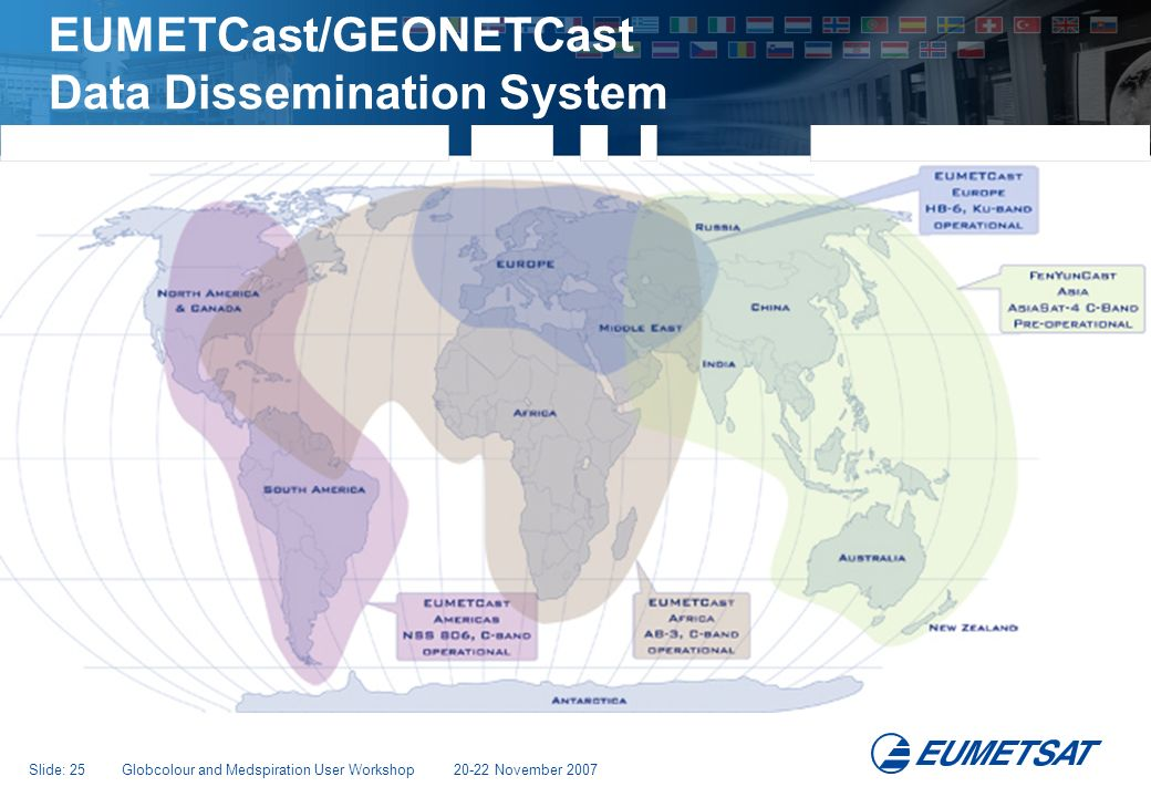 EUMETCast/GEONETCast Data Dissemination System