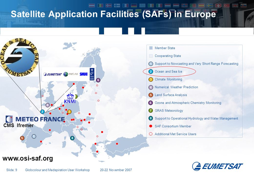 Satellite Application Facilities (SAFs) in Europe