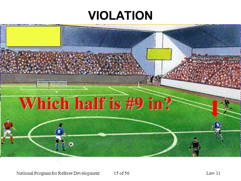 VIOLATION Which half is #9 in 1/2