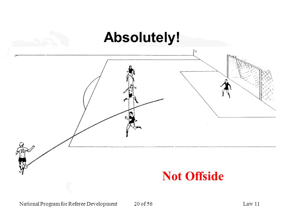 Absolutely! Not Offside