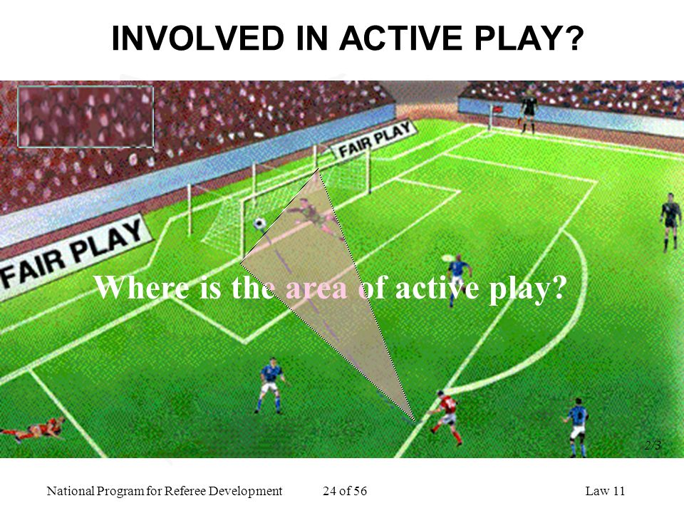 INVOLVED IN ACTIVE PLAY
