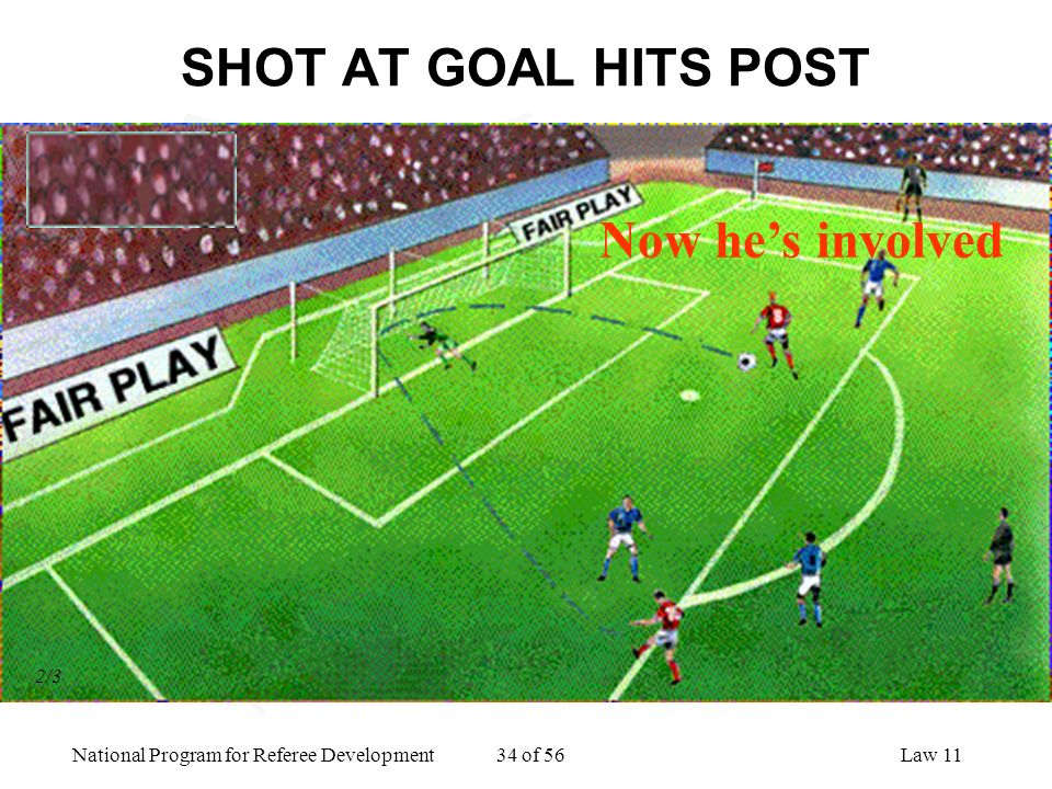 SHOT AT GOAL HITS POST Now he's involved 2/3