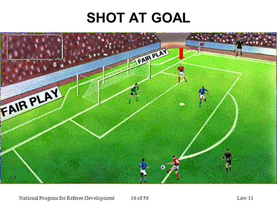 SHOT AT GOAL 1/3