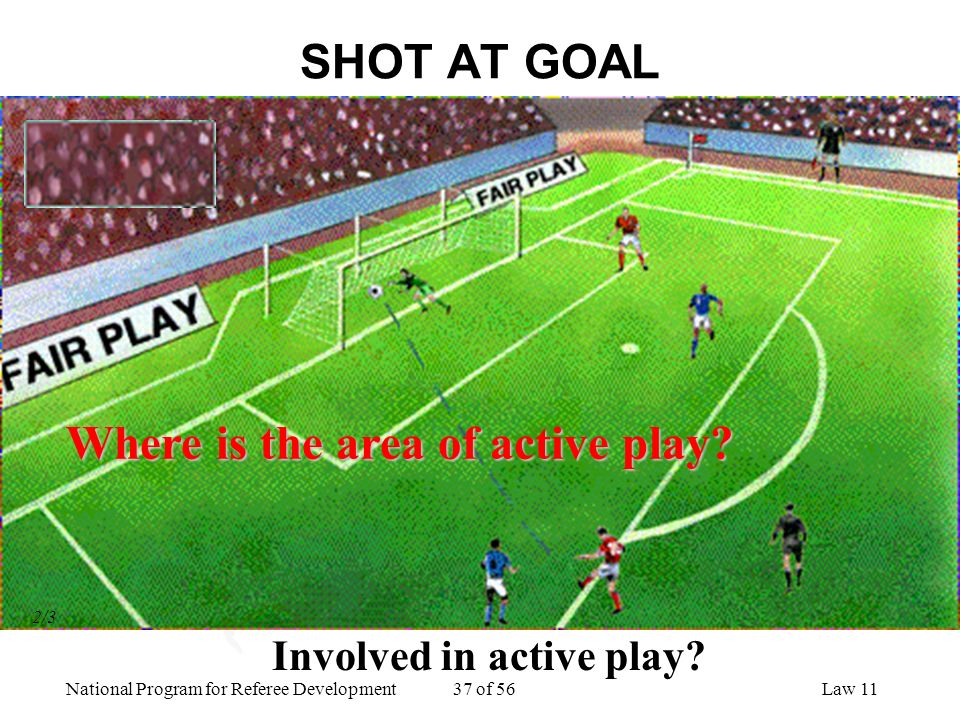 Where is the area of active play