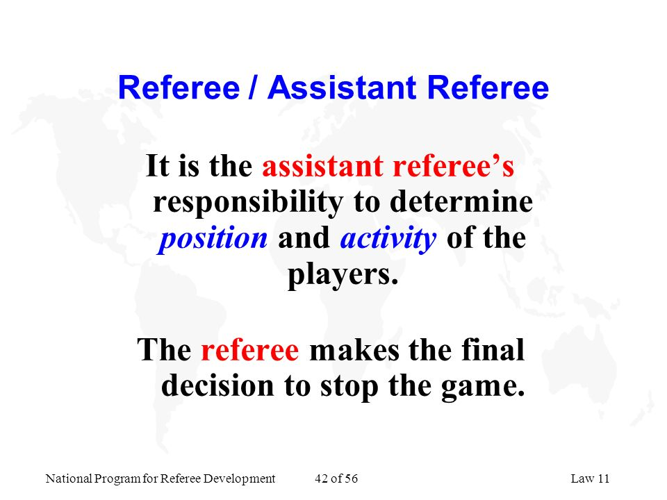 Referee / Assistant Referee