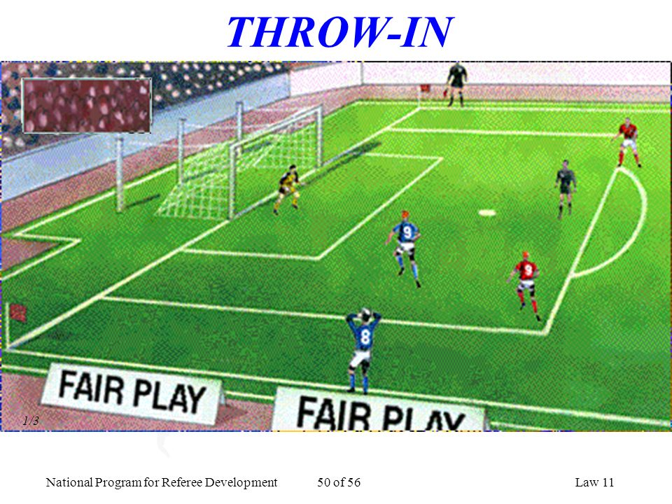 THROW-IN 1/3