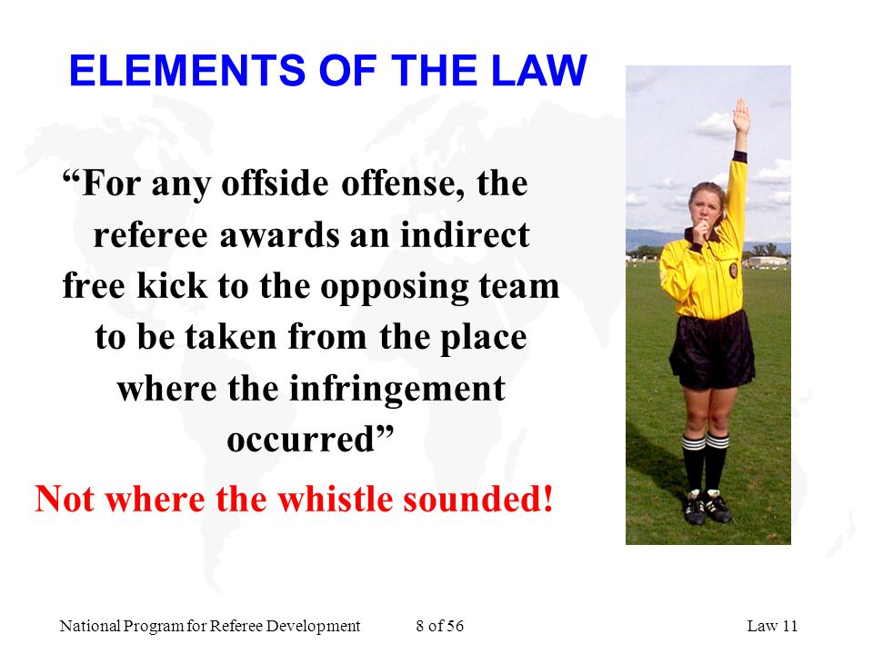 Not where the whistle sounded!