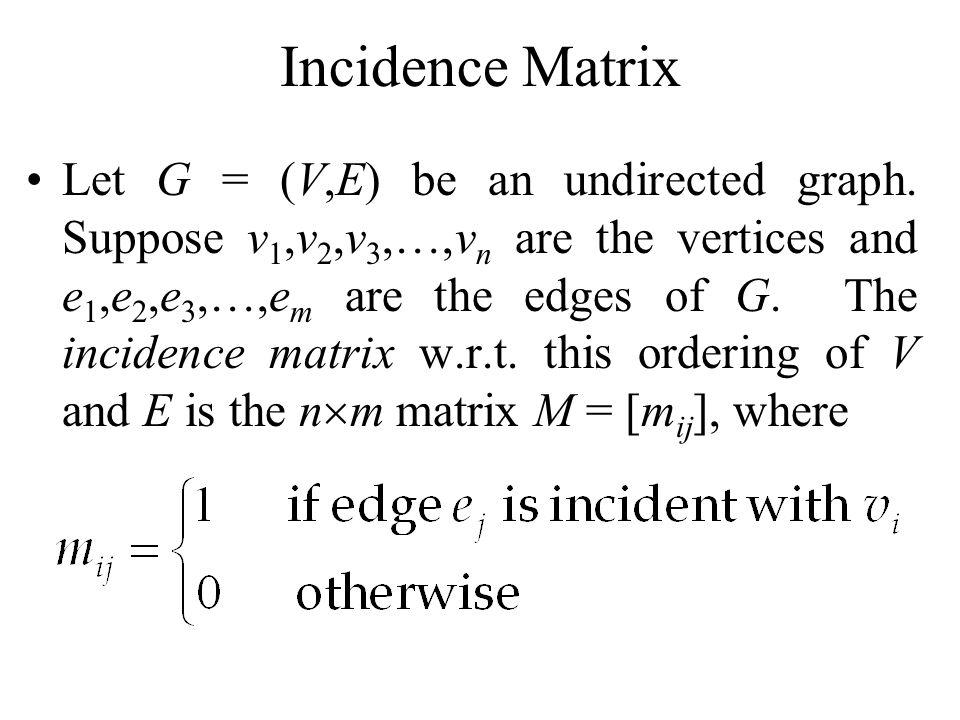 Incidence Matrix