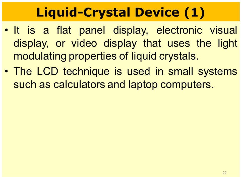 liquid crystal display in computer graphics pdf