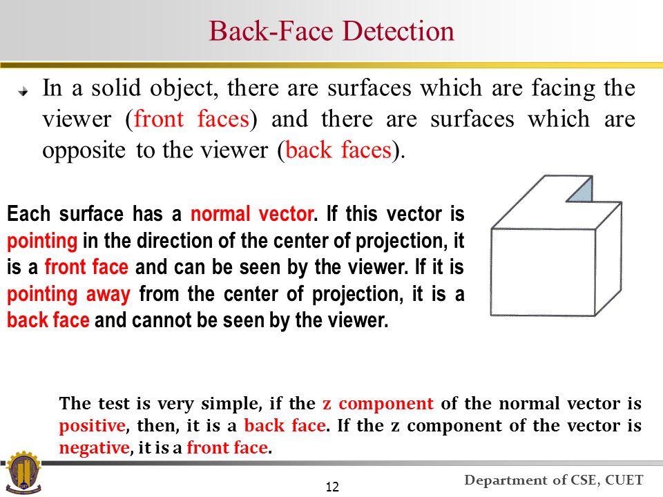 Back-Face Detection