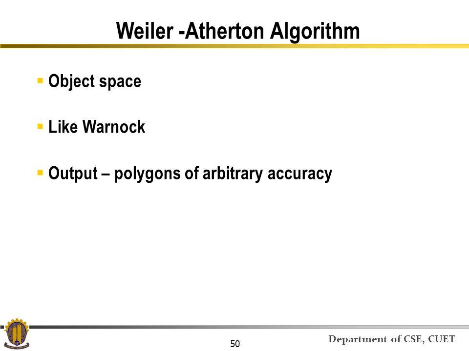 Weiler -Atherton Algorithm