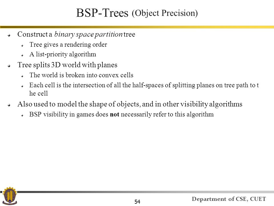 BSP-Trees (Object Precision)