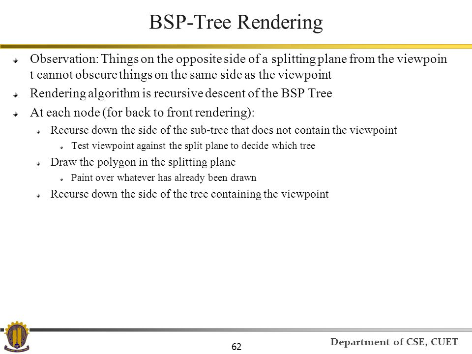 BSP-Tree Rendering